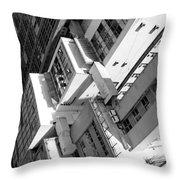 View From Edificio Martinelli Bw - Sao Paulo Throw Pillow