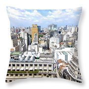 View From Edificio Martinelli - Sao Paulo Throw Pillow