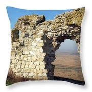 View From Enisala Fortress 2 Throw Pillow
