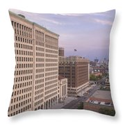 View From Fisher Building  Throw Pillow