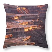 View From Grandview Point Canyonlands Throw Pillow