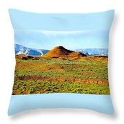 View From Horseshoe Bend Overlook Throw Pillow