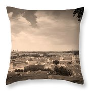 View From Hradcany Of Mala Strana Throw Pillow