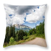 View From Kebler Pass Throw Pillow
