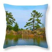 View From Killarney Mountain Lodge Throw Pillow