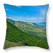 View From Knife Edge Road Overlooking Montezuma Valley In Mesa Verde National Park-colorado   Throw Pillow