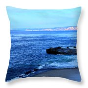 View From La Jolla Throw Pillow