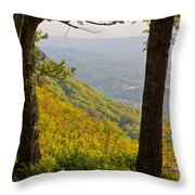 View From Lookout Mountain Throw Pillow