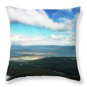 View From Martial Glacier, Ushuaia Throw Pillow