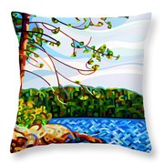 View From Mazengah Throw Pillow by Mandy Budan