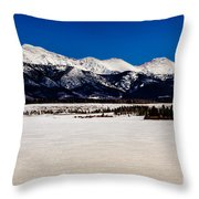 View From Meadow Creek Resevoir Throw Pillow