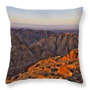 View From Mount Sinai Throw Pillow