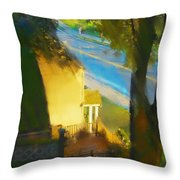 View From My Window On A Summer Afternoon  B-12 Throw Pillow