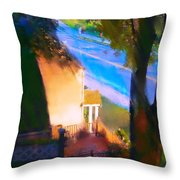 View From My Window On A Summer Afternoon  B-15 Throw Pillow
