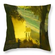 View From My Window On A Summer Afternoon  B-17 Throw Pillow