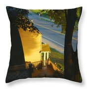 View From My Window On A Summer Afternoon  B-21 Throw Pillow