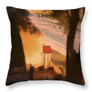 View From My Window On A Summer Afternoon  B-3 Throw Pillow