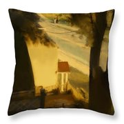 View From My Window On A Summer Afternoon  B-4 Throw Pillow