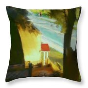 View From My Window On A Summer Afternoon  B-6 Throw Pillow