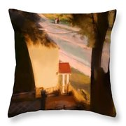 View From My Window On A Summer Afternoon  B-9 Throw Pillow