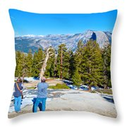 View From Near The Top Of Sentinel Dome In Yosemite Np-ca Throw Pillow