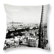 View From Notre Dame Throw Pillow