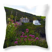 View From Port Isaac Throw Pillow