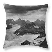 T-303501-bw-view From Quadra Mtn Looking Towards Ten Peaks Throw Pillow