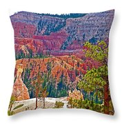 View From Queen's Garden Trail In Bryce Canyon National Park-utah Throw Pillow