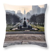 View From Rocky's Footsteps Throw Pillow