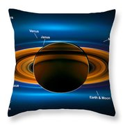 View From Saturn By Nasa's Cassini Spacecraft Throw Pillow