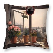 View From The Artist's Window Throw Pillow