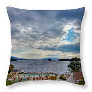 View From The Balcony Suite - Sagamore Resort Throw Pillow