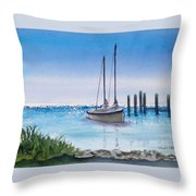 View From The Barnacle Throw Pillow