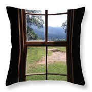 View From The Cabin Throw Pillow by Todd Blanchard