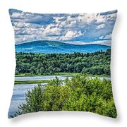 View From The Dam Throw Pillow