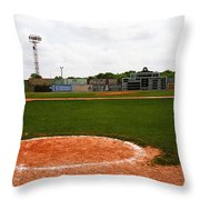 View From The Dugout Throw Pillow