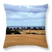 View From The Dunes Throw Pillow