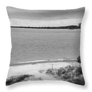 View From The Fort Gratiot Light House Throw Pillow