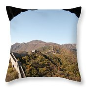 View From The Great Wall 696 Throw Pillow