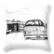 View From The Hatteras Ferry Throw Pillow