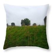 View From The Henge Throw Pillow