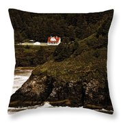 View From The Keeper's House Throw Pillow