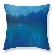 View From The Lake Throw Pillow