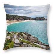 View From The Minack Theatre Throw Pillow