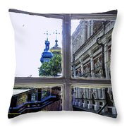 View From The Novodevichy Convent - Russia Throw Pillow