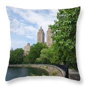 View From The Park West Side Throw Pillow