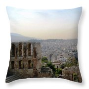 View From The Parthenon Throw Pillow