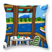 View From The Porch - Cedar Key Throw Pillow by Mike Segal