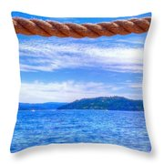 View From The Resort 6799 Throw Pillow